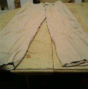 100% Tan Linen Pants